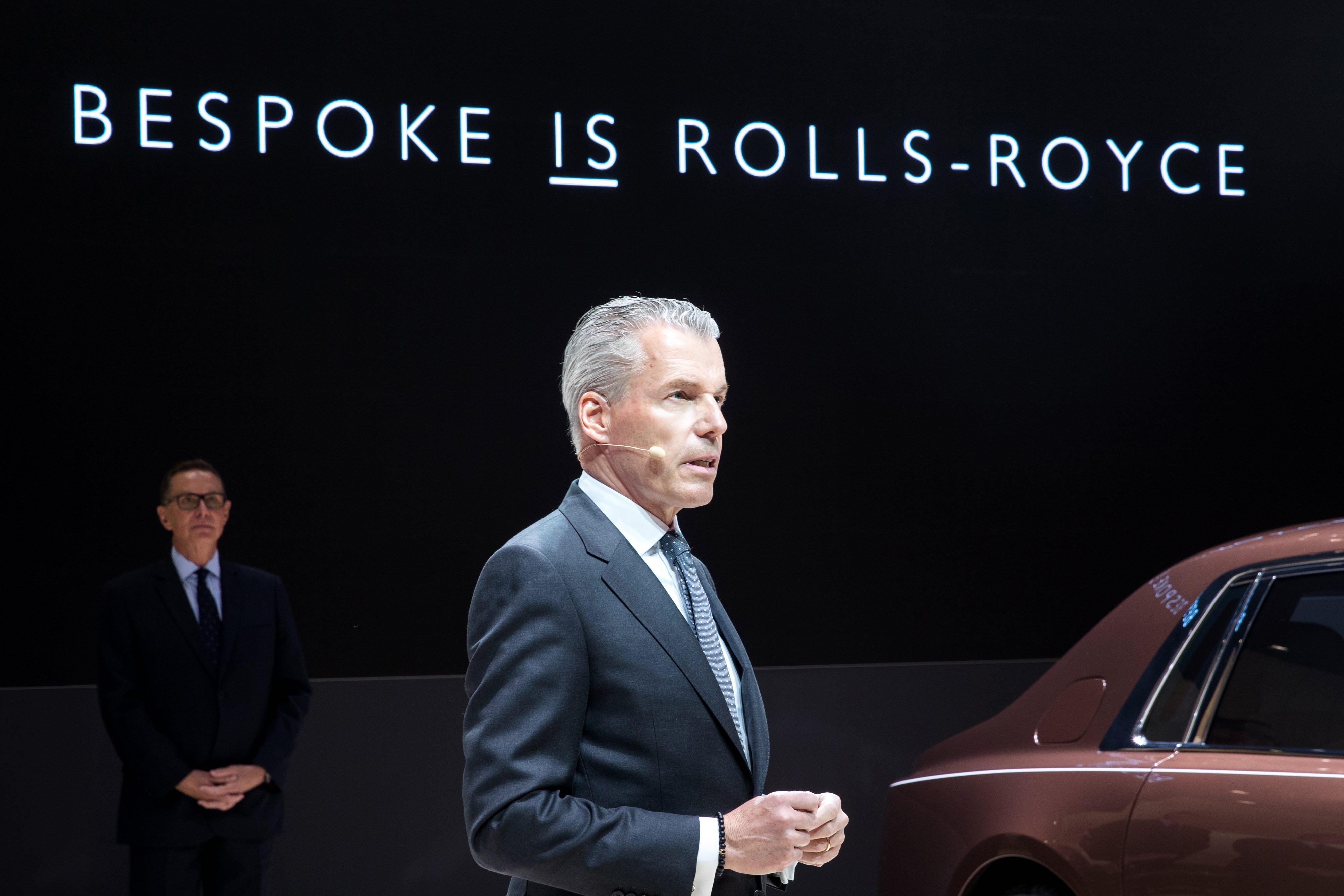 【新闻图片】劳斯莱斯汽车首席执行官托斯顿·穆勒·乌特弗斯致辞